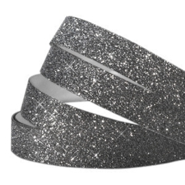 Crystal glitter tape 10mm Black  - 20cm
