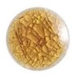 Handgemaakte Porcelein Cabochon Topaasbruin - Crackle - 20x3mm