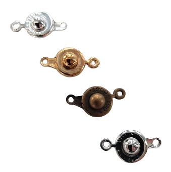Drukslotje 9mm antiekbrons - goud - rhodium of verzilverd - 5 stuks