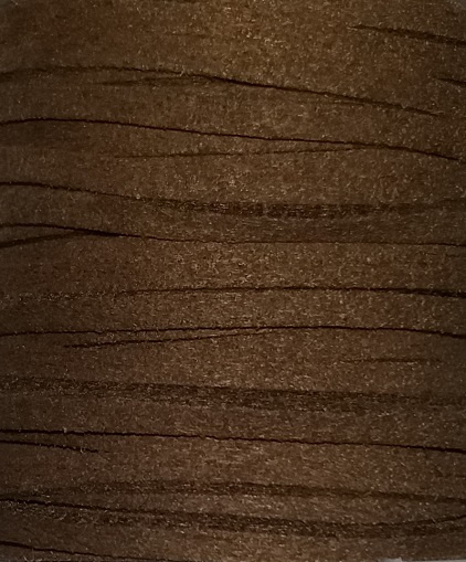 Faux Suede koord Plat - taupebruin 3x1.4mm – 1 meter