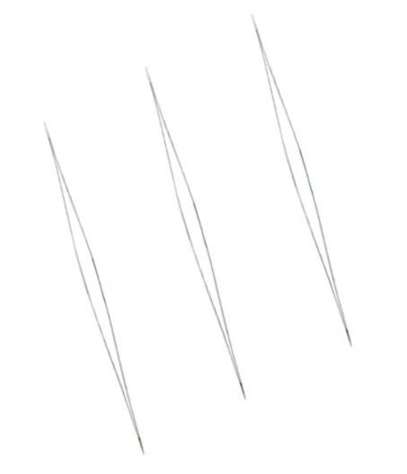 RVS Splitnaald of splijtnaald voor kleine kraaltjes - 114mmx0.2mm