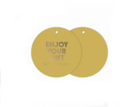 Cadeaulabel: 'Enjoy your gift'