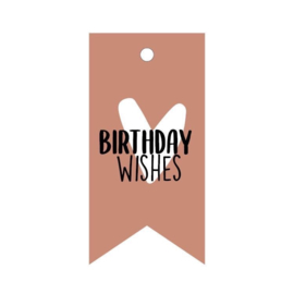 Cadeaulabel: 'Birthday Wishes'