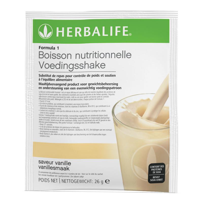 F1 Voedingsshake klein - 1 persoon vanille 182 g (7 zakjes)