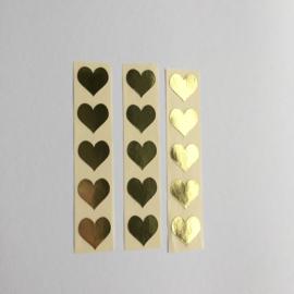 Sticker mini hartje | goud | 30 stuks