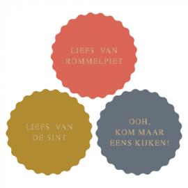 Stickers | Sint multi liefs van.... | 10 stuks