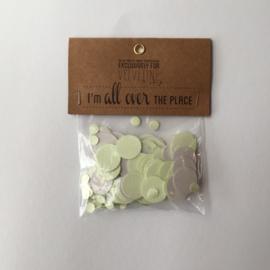 Confetti | zakje | grijs - licht groen |