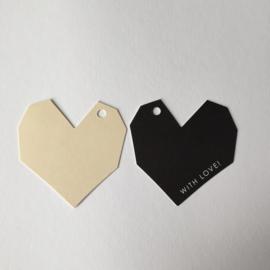 Gifttags | heart | 2 stuks