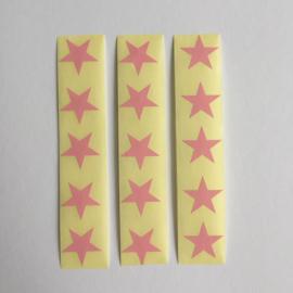 Sticker mini ster |  licht roze | 30 stuks