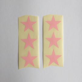 Sticker ster | ster pastel roze | 30 stuks