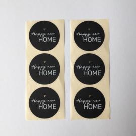 Sticker rond | Happy new home | 20 stuks