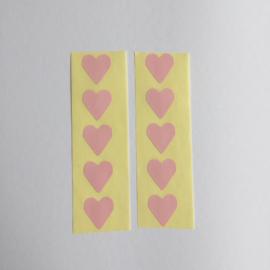 Sticker mini hartje | roze | 30 stuks
