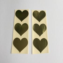 Sticker hart |  goud | 30 stuks