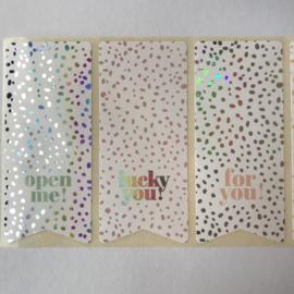 Sticker vaantjes | groot 5 cm pastel mix | 10 stuks
