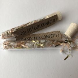 Confetti | buisje | wit/roze/goud/zilver |