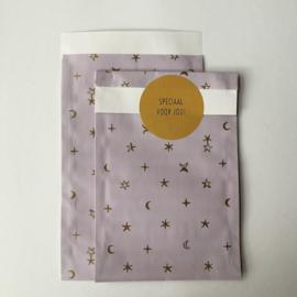 Zakjes | stars & moon lila | 10 stuks