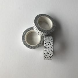 MT | washitape | zwart / wit dots | 1 stuk