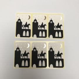 Stickers | Op de hoge daken | 20 stuks