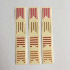 Sticker flag | multi kleur | 12 stuks