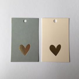 Gifttags | gouden hartje | 2 stuks