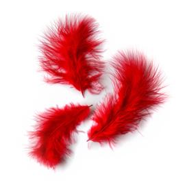 Deco | sint rode veren 12-15cm | 3 stuks