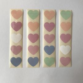 Sticker mini hartje | pastel mix | 20 stuks