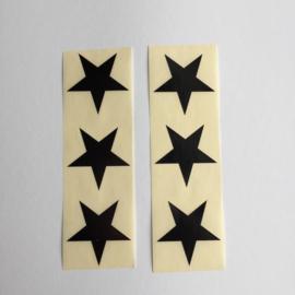 Sticker ster | zwart | 30 stuks