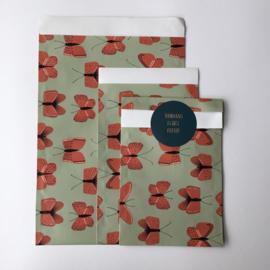 Zakjes | Butterfly Red | 10 stuks