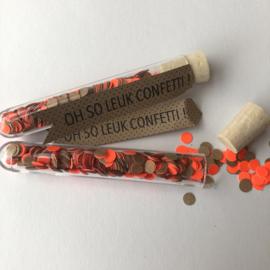 Confetti | buisje | kraft / neon oranje |