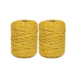 Touw | okergeel / goud | 2mm x 50 meter | per stuk
