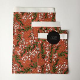 Zakjes | winter flowers red | 10 stuks