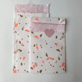 Zakjes | Roze fine fleurs | 10 stuks
