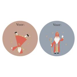 Stickers | Sint duo acrobaat | 10 stuks