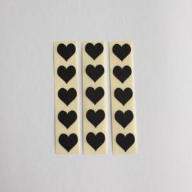 Sticker mini hartje | zwart | 30 stuks