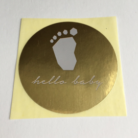 Sticker rond | Baby Boy blauw | 10 stuks