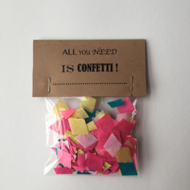 Confetti | zakje | kraft / multi |