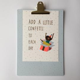 Gift | Clipboard A4 confetti | 1 stuk